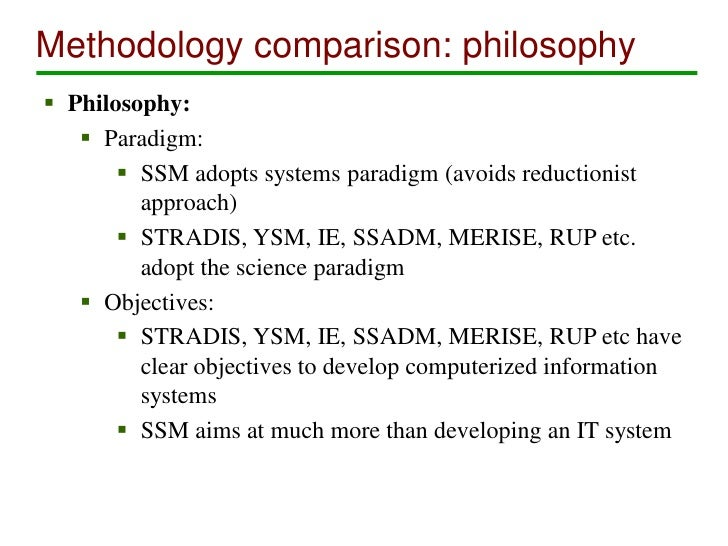 comparison between ssadm and ssm Full-text paper (pdf): a framework for selection of information systems development methodologies.