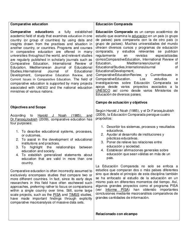 Comparative education  Educación Comparada  Comparative educationis a fully established academic field of study that exami...