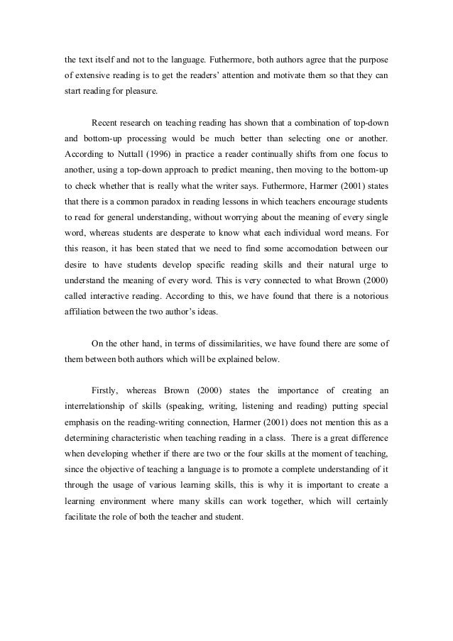 comparative essay on reading  3 the