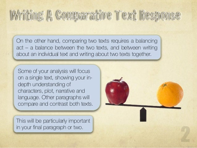 how to write essay comparing two articles