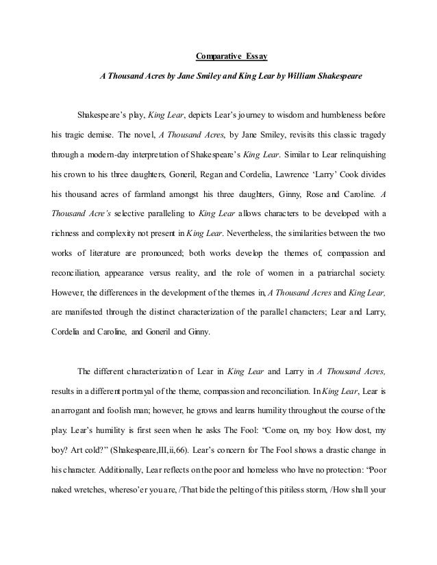 King lear essay help