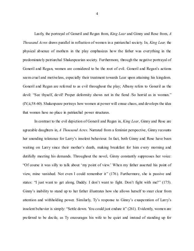 A thousand acres ginny analysis essay