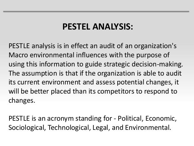 Understanding a PESTLE Analysis and Its Components