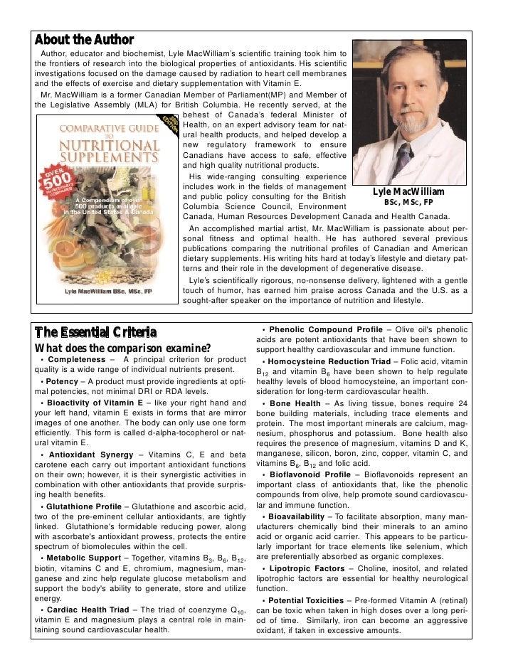 lyle macwilliam comparative guide pdf