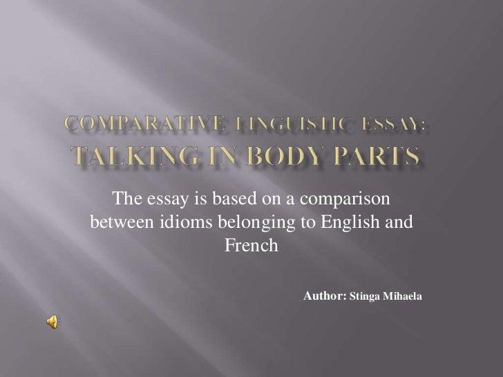 linguistic essay comparative linguistic essay