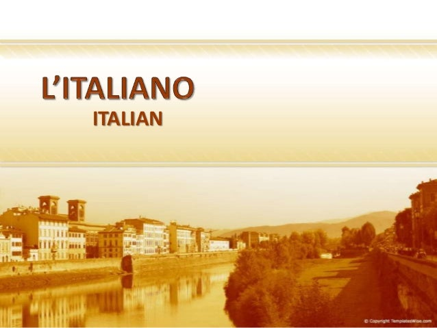 English In Italian: Comparative Linguistics English- Italian