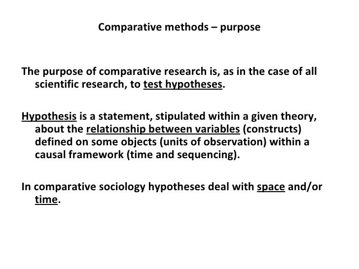 Comparative Method of Studying Anthropology