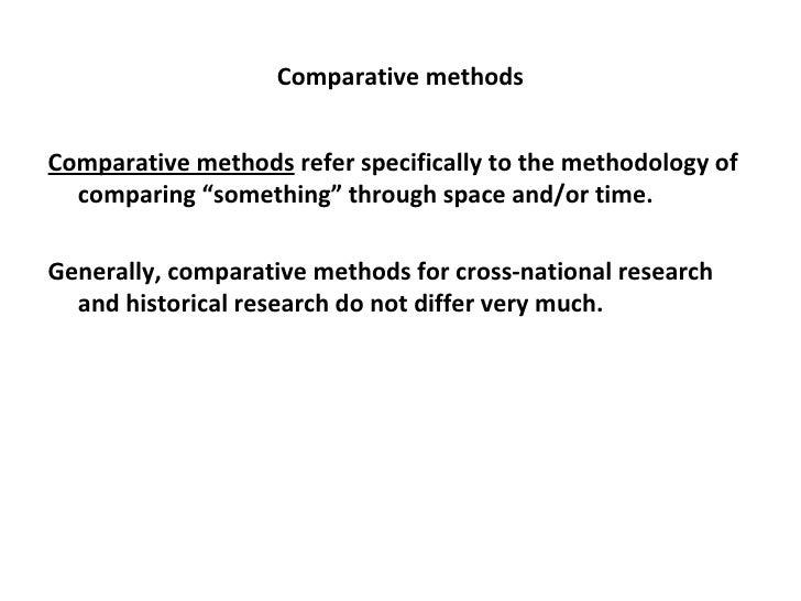 comparative method political science