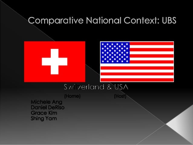   Both the U.S. and Switzerland have executive leaders (President) and the legislative branch (parliament/congress) is a ...