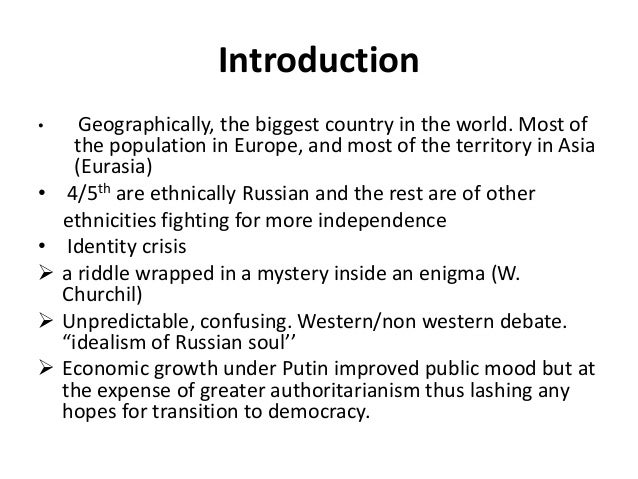 An introduction to the russian history and consolidation of democracy in post soviet russia