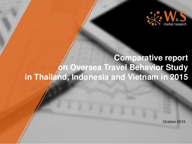 Comparative report on Oversea Travel Behavior Study in Thailand, Indonesia and Vietnam in 2015 October 2015