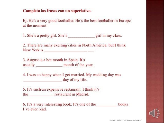 Comparatives And Superlatives Con Ejercicios Y Sonido