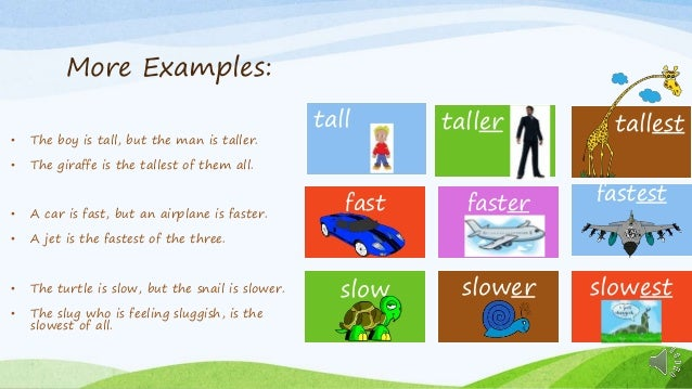 comparatives and superlatives lesson for 3rd grade esl students