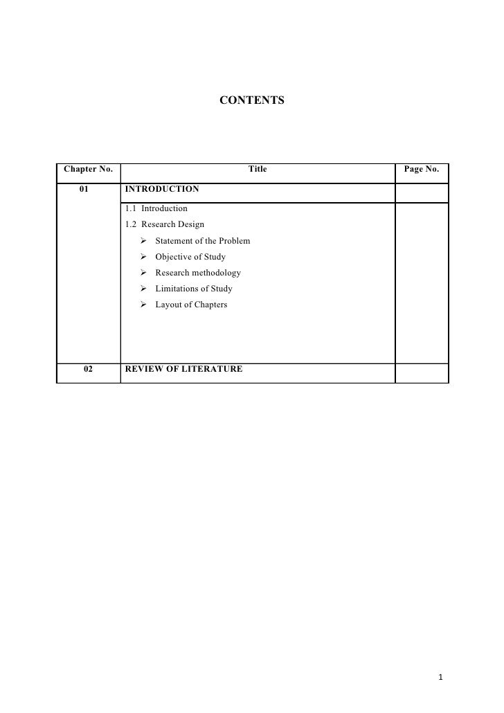 CONTENTS     Chapter No.                               Title   Page No.     01         INTRODUCTION                1.1 Int...