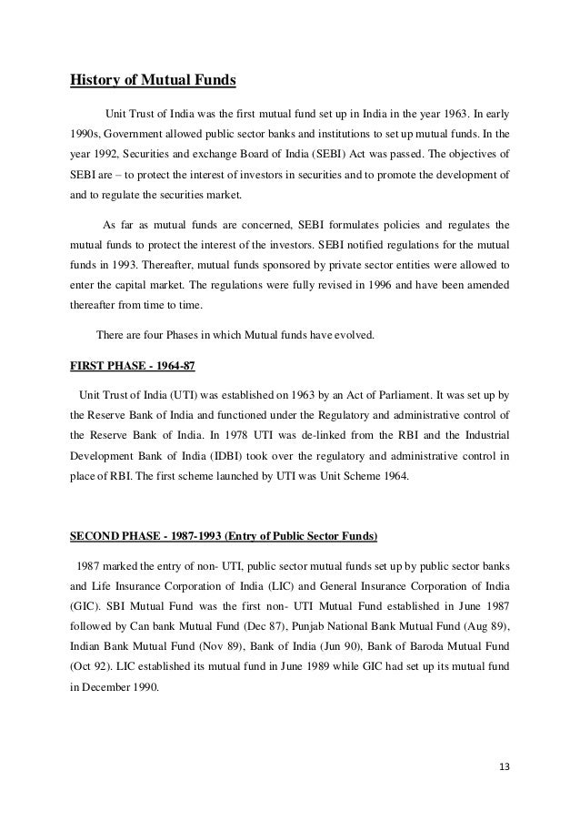 a comparative study of mutual fund returns and bank deposits Misled and mis-sold: financial misbehaviour in retail banks  insurance returns and 93% disclose mutual fund returns  question for bank deposits and 27%.