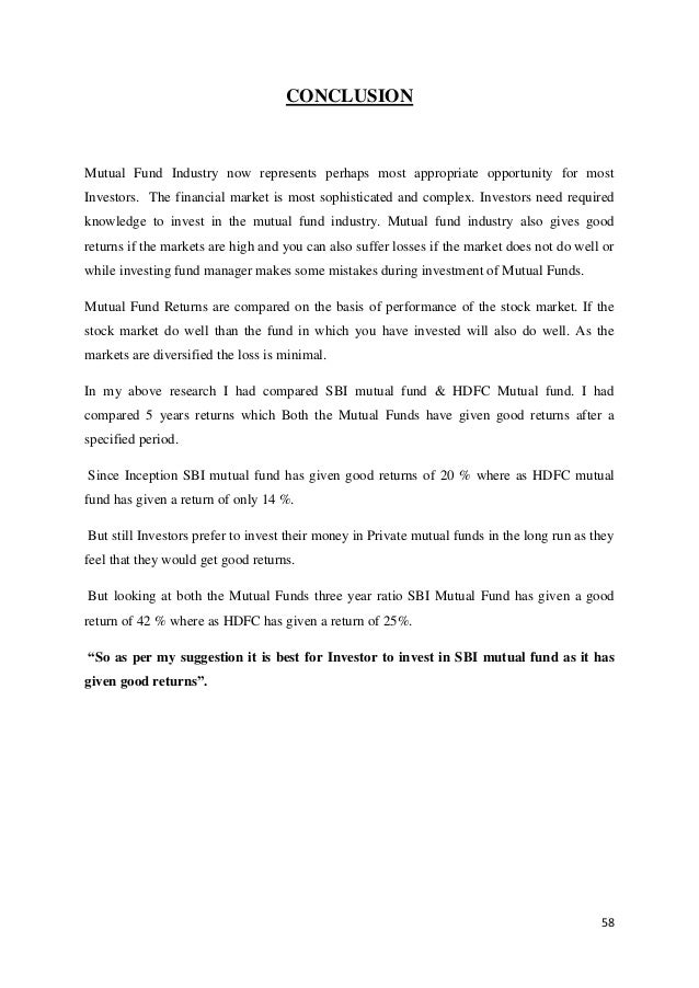 comparative study of mutual fund returns Our study has attempted to evaluate the comparative performance of public and private sector mutual fund schemes t he indian mutual fund industry has witnessed a structural transformation during the past few years.