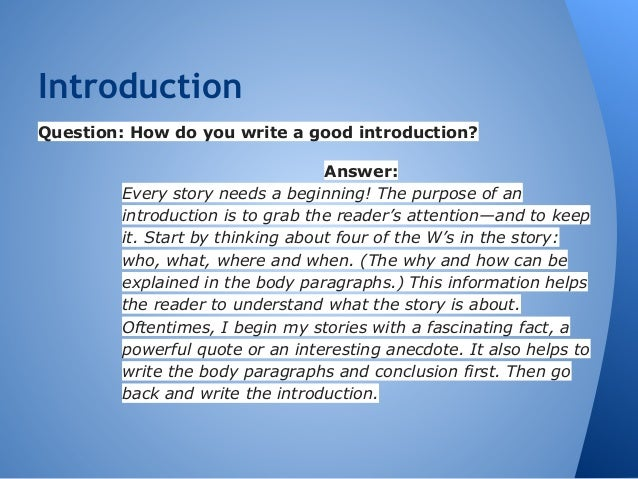 compare contrast essay 3 introductionquestion how do you write a good introduction