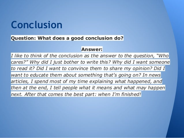 Good conclusion comparison contrast essay