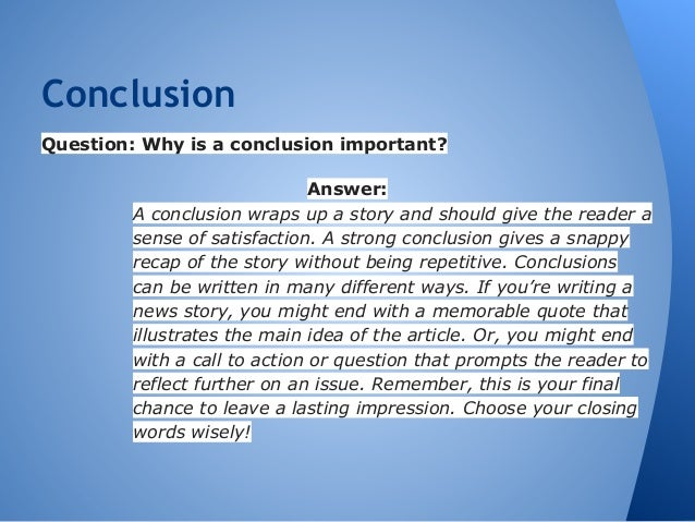 compare contrast essay 8 conclusionquestion why is a conclusion