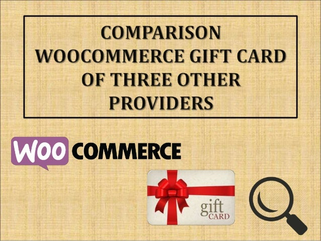 Woocommerce Gift Card Comparison