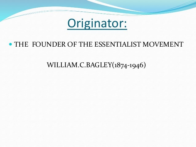 Compare and contract perennialism and essentialism Slide 3