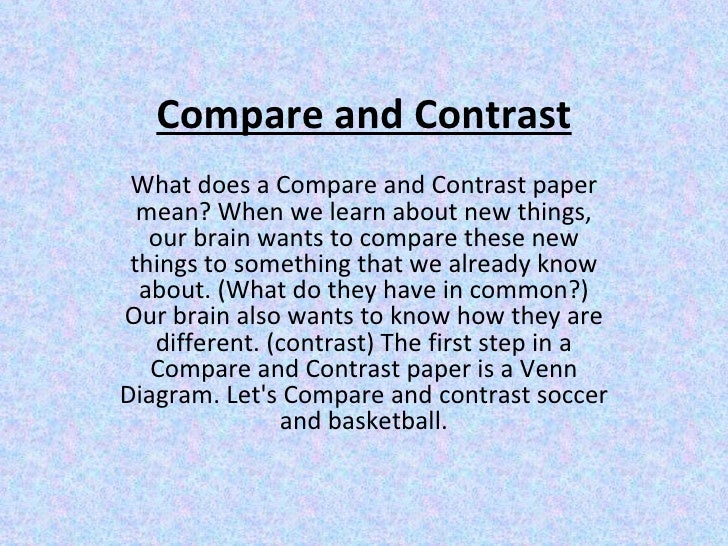 compare and contrast essay definition
