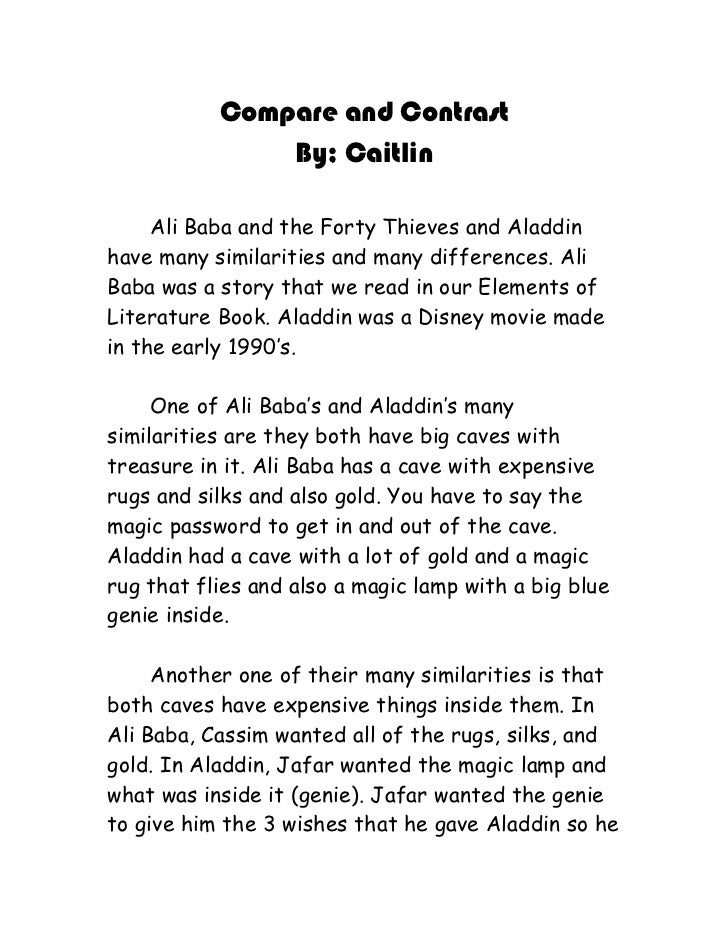Essays On The Giver Compare And Contrast By Caitlin Ali Baba And The Forty Thieves And  Aladdinhave Many Similarities  Essay Mapping also Writing A Debate Essay Compare And Contrast Paper The Most Dangerous Game Essay