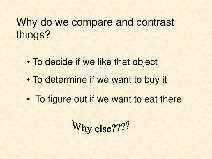 How to Write Compare and Contrast Essay: Can You Tell the Difference?