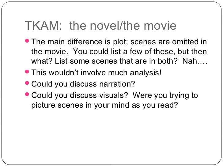 Compare & Contrast the Film with the Novel, To Kill a Mockingbird