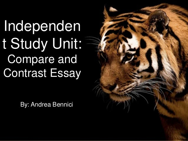 Independen t Study Unit: Compare and Contrast Essay By: Andrea Bennici