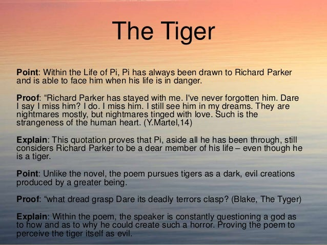 life of pi and the tyger compare and contrast essay 12 the tiger