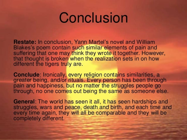 life of pi and the tyger compare and contrast essay 15