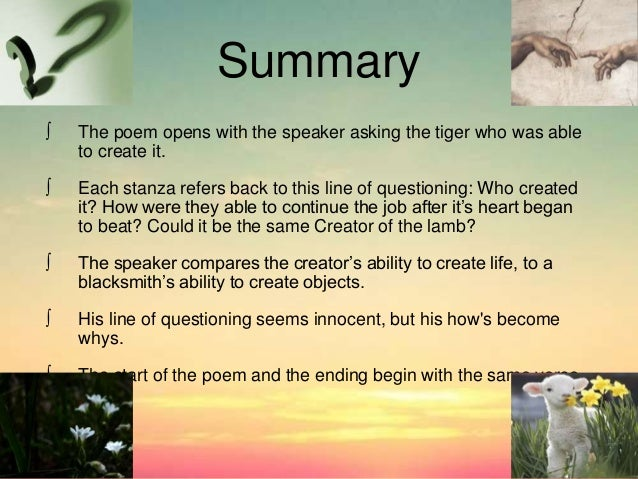 william blake tyger analysis essay How is william blake's poem the tyger a by-product of the romantic era and   often held connotations about the deeper questions of life and the meaning of .