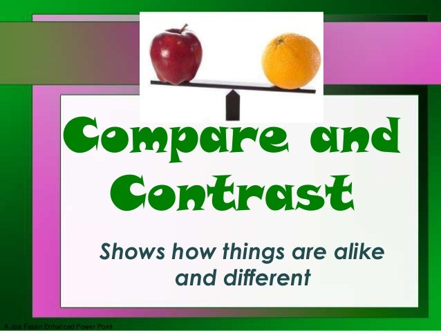Difference Between Compare and Contrast