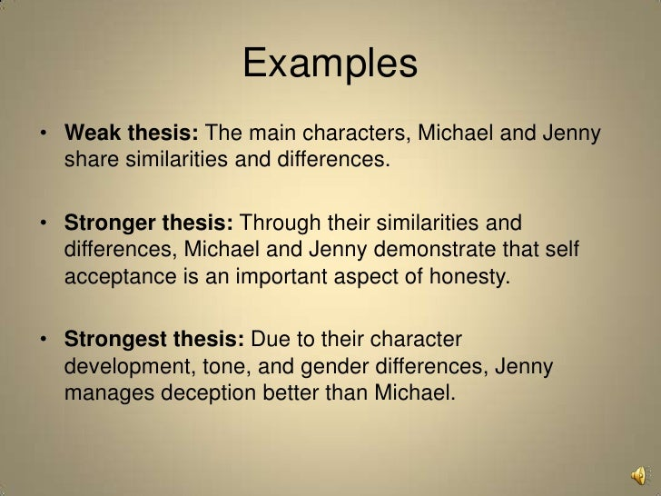 Character development essays