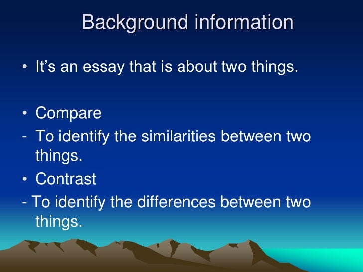 essay comparing and contrasting two cities Compare and contrast essay outline  ends with a thesis statement that focuses the comparison or contrast  similarities between two cities:.