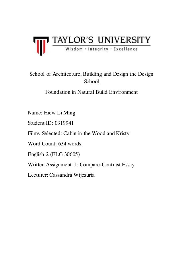 Compare And Contrast Essay School Of Architecture Building And Design The Design School Foundation In  Natural Build Environment Name Compare And Contrast Essay  English Essay Com also Thesis For An Analysis Essay  Synthesis Essay Topic Ideas