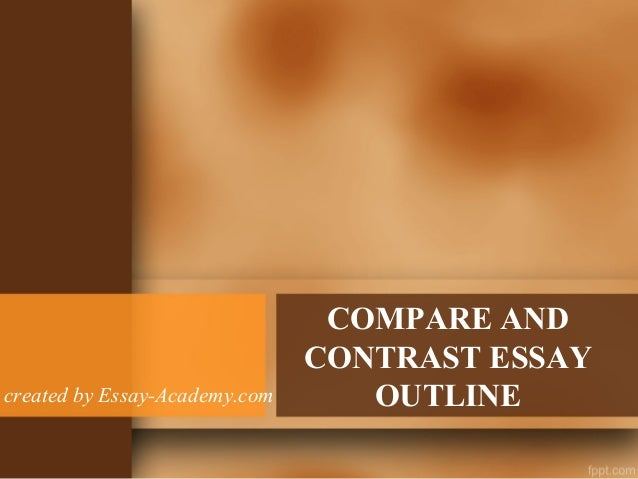 writing compare contrast essay powerpoint