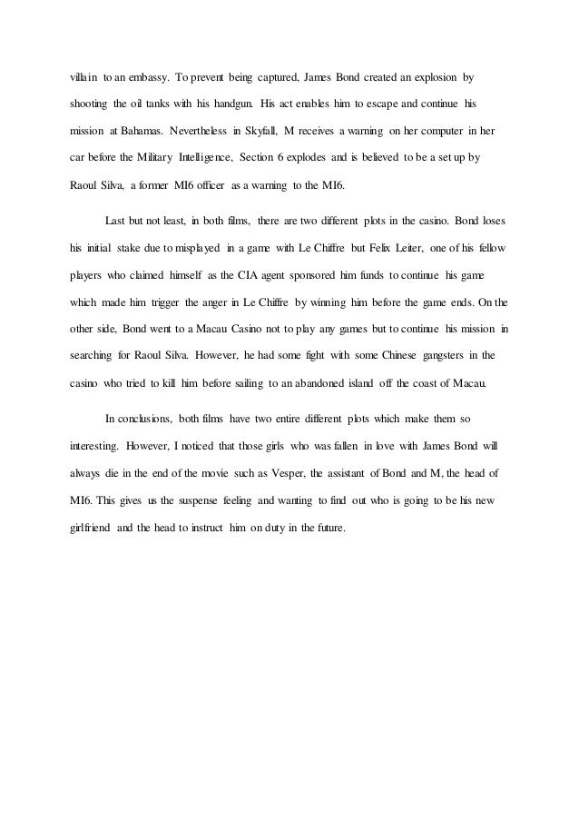 compare and contrast james bond essay submit 3 villain to