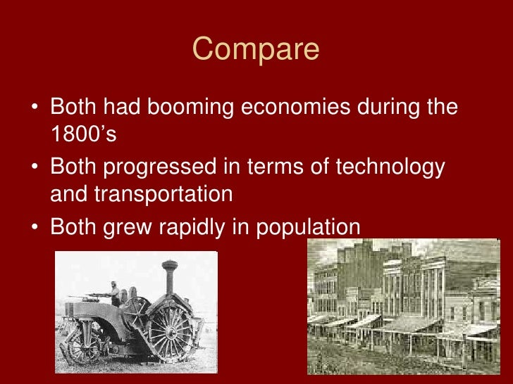 Compare and contrast essay of north and south