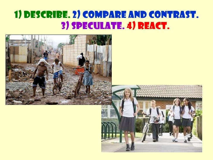 compare contrast fashion What is the difference between compare and contrast - compare is used when you have the intention of representing the similarities between two objects contrast.