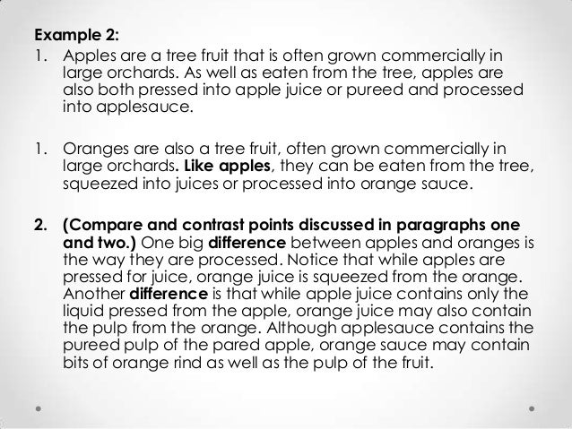 comparison essay on apples and oranges