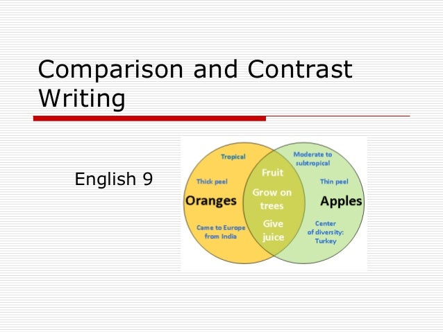 1 compare and contrast how and for Compare and contrast the writing centre department of english 1 comparison emphasizes the similarities between two things, ideas, concepts,.