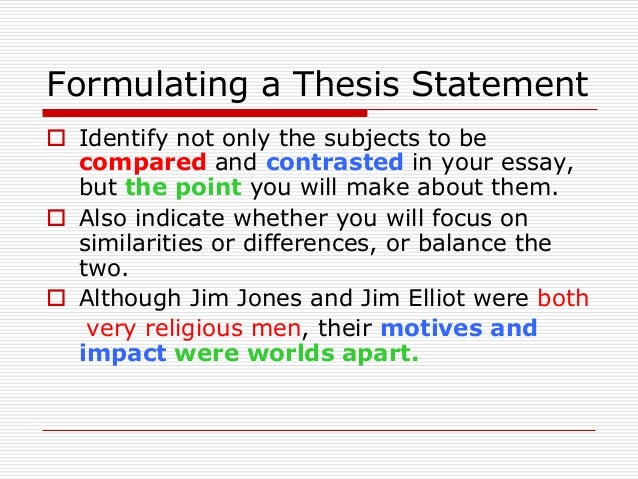 formulating thesis statement research paper The goal of a position paper is to convince the audience that to make your topic into a thesis statement formulating a thesis is not the first thing you do.