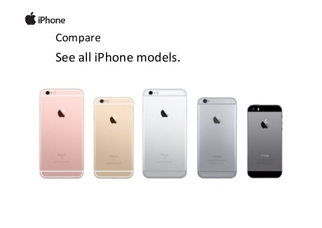 Compare Apple iPhone models 2H 2015