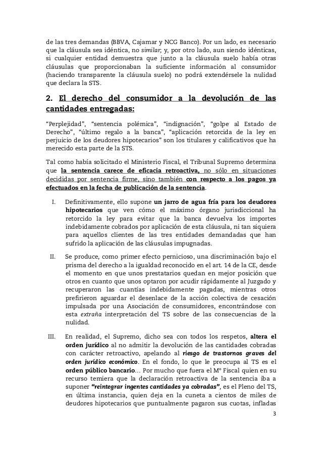 Nulidad de la cl usula suelo comparecencia congreso de for Ultimo clausula suelo
