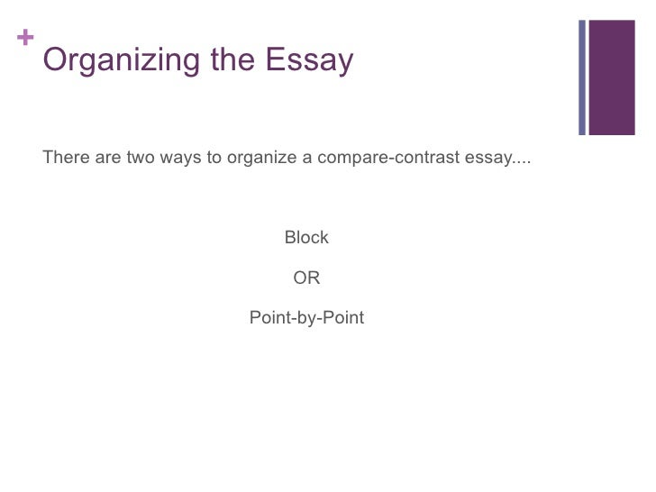 comparecontrast organizing the essay