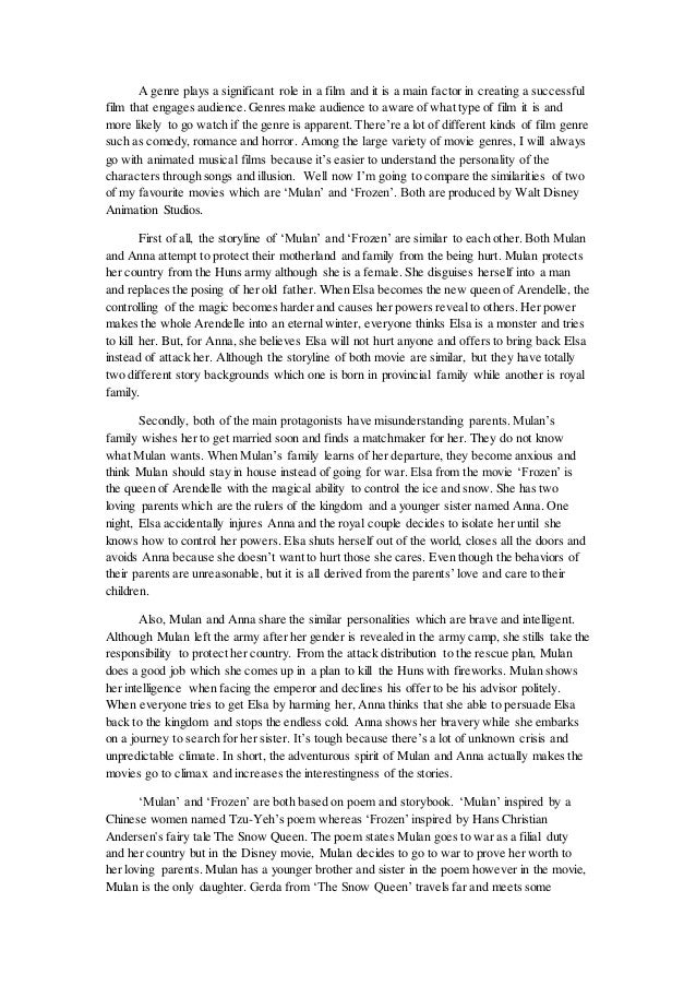 Sample essay comparing two articles