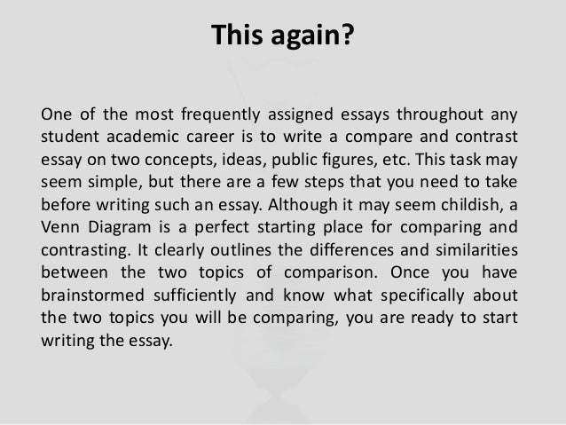 Compare and contrast essay helper