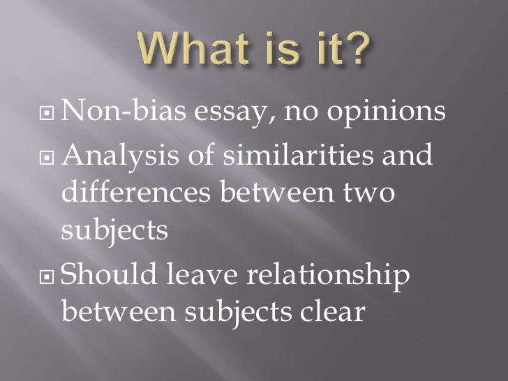 writing a compare and contrast essay powerpoint